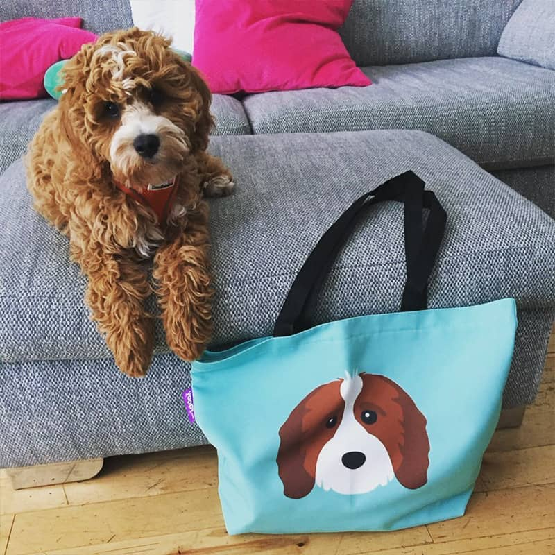 Bella with her Personalised Icon Bag