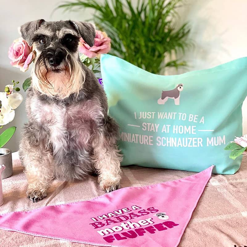 Florrie with her Mother's Day Bag and Bandana