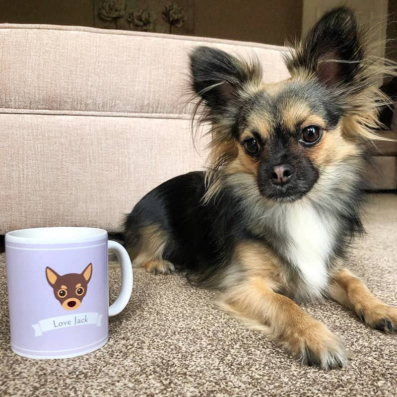 Jack with his Personalized Mug
