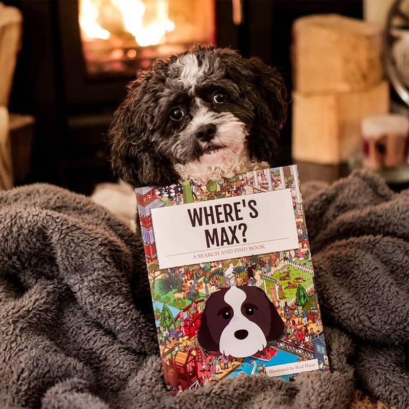 Max with his Personalised Where's Book