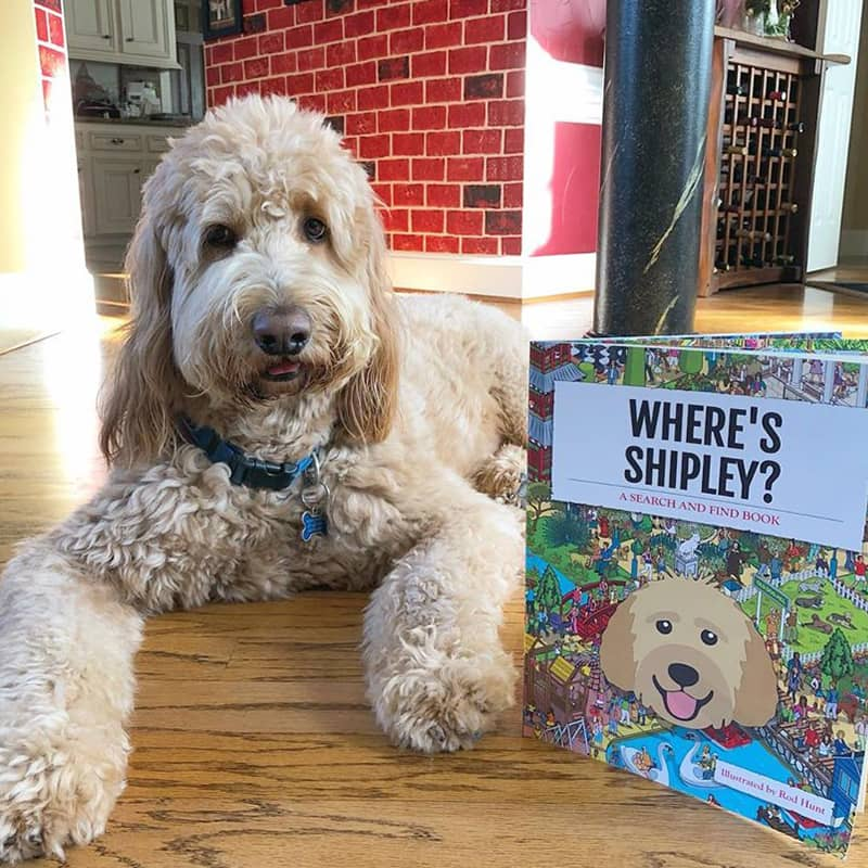 Shipley with his Personalized Where's Book
