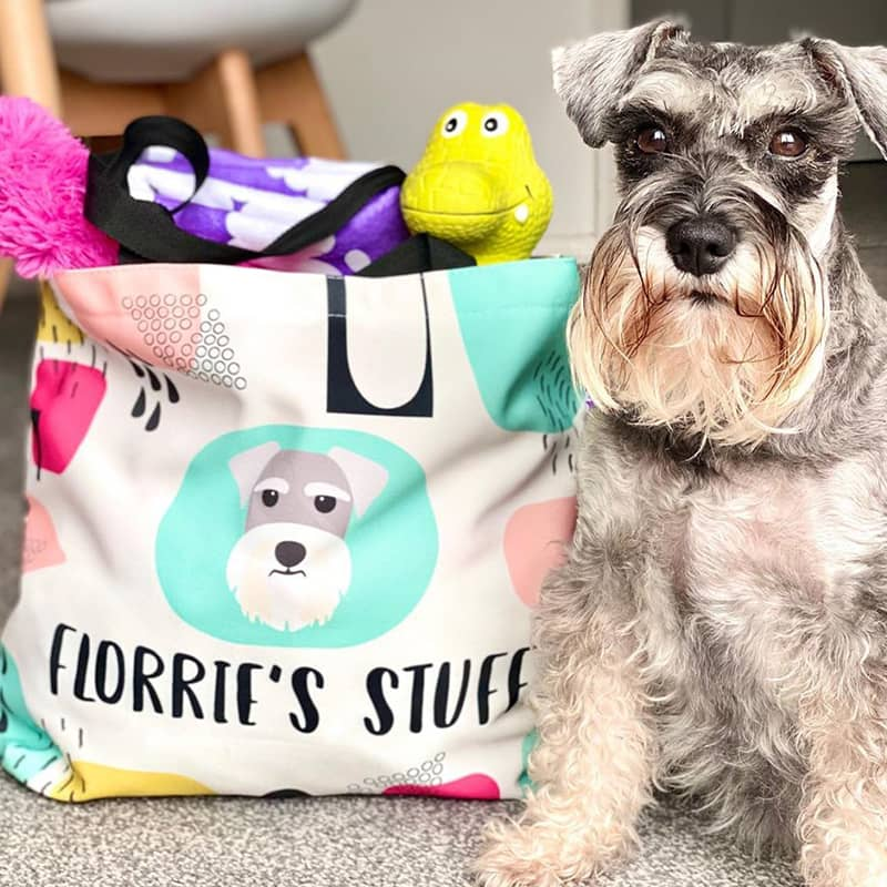 Florrie with her Personalized Bag