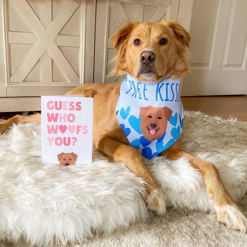 Personalized Dog Card and Bandana