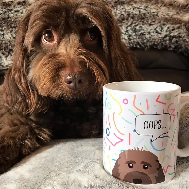 Seren with his Personalized Dog Hairs Mug
