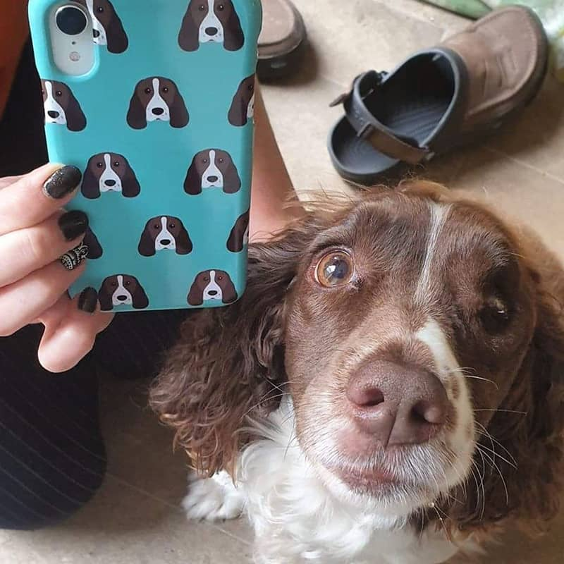 Tess with her Personalized Phone Case
